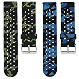 Veczom for Galaxy Watch Bands 42mm, Galaxy Watch 3 41mm Band, 20mm Silicone Replacement Band Compatible with Samsung Galaxy Gear S2 Classic 2 Pack