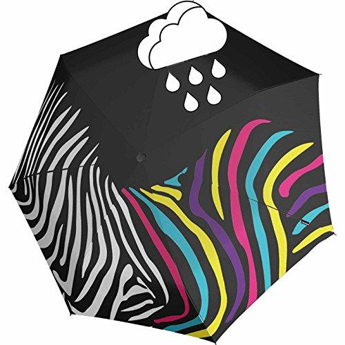 Knirps Mini Taschenschirm Floyd Duomatic Zebra mit Farbwechsel Wet Print