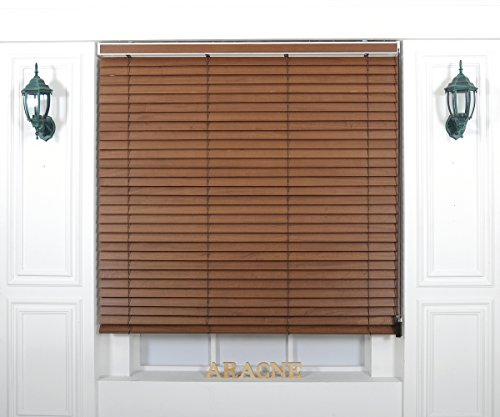 Foiresoft Custom Cut to Size, [Winsharp Wood Paulownia, Paulownia_04, W 55 x H 47 inch] Horizontal Window Real Wood(Paulownia) Blinds, 20 to 110 inch Wide