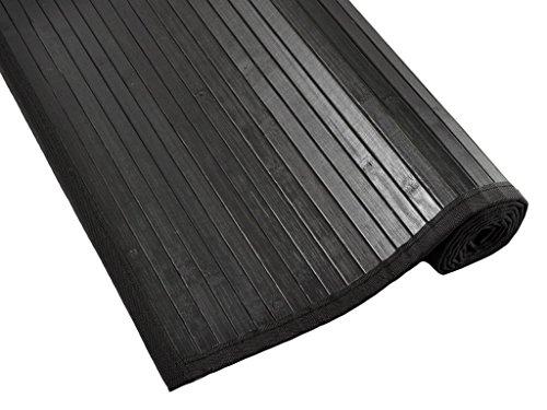 Tiendas Mi Casa - Alfombra bambú KENIA (70x250 cm, Negro; lama 15 mm). Disponible en varios tamaños y colores.