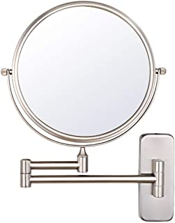 NiceVue 6 Inch Wall Mounted Mirror Double Makeup Mirror Shaving Bathroom Mountable Mirror with 10x Magnification