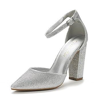 Best wide width silver heels Reviews