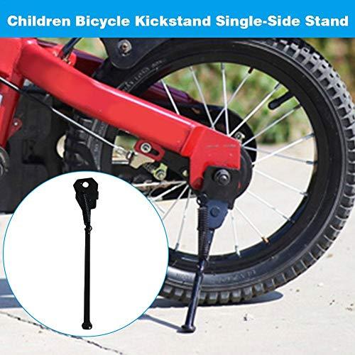 Soporte de bicicleta diseñado con pie con punta antideslizante, soporte de bicicleta infantil Soporte de un solo ladoSoporte de bicicleta plegable de montaje trasero,para 12 14 16 18 20 pulgadas