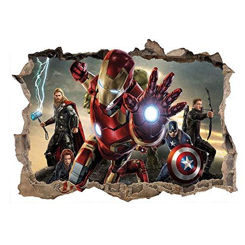 Kibi Iron Man Pegatinas Iron Man Etiqueta De La Pared Extraíble Pegatinas Dibujos Animados En 3D Iron Man Hero Marvel Avengers Superhero Ironman