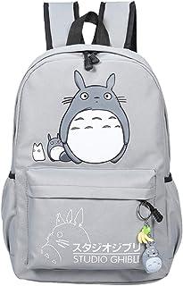 Totoro Mochilas Elegante Mochila Escolar Mochila Informal Dibujos Animados Mochila de Viaje Hipster Laptop Backpack Unisex (Color : Grey, Size : 32 X 14 X 44cm)