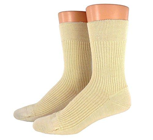 Socken für Damen und Herren, 1 oder 3 Paar Schafwollsocken 100prozent Wolle aus reiner Schurwolle, warm, atmungsaktiv, grau, schwarz, natur, Größe:43/44, Farben alle:rohweiß