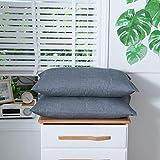 WAM Bett-Kissenbezug, Baumwolle, einfarbig, rechteckig, Schlafkissenbezüge, Baumwolle, Style-1,...