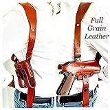 Rig for 1911 Leather Shoulder Gun Holster Fits Most 1911 Style Pistols - Kimber - Colt - S & W - Remington - Sig Sauer - Ruger / Right Handed / Handgun Holster - Mag Pouch - Shoulder-Tie Down Straps