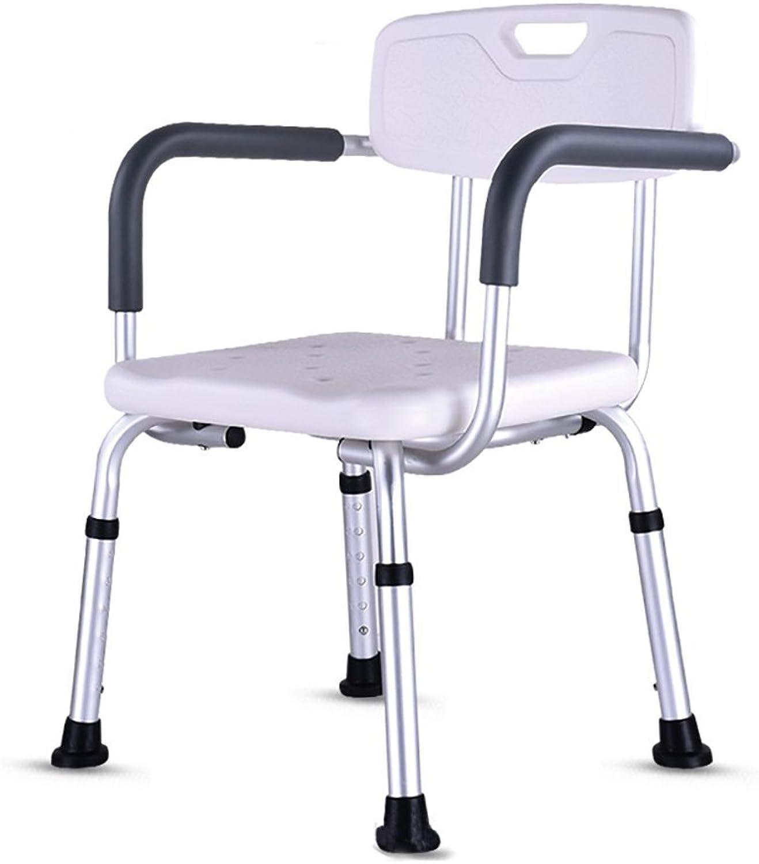 HSRG Bath Chair Duschstuhl Mit Rückenlehne Von Badewanne Stuhl Mit Armen Für Handicap Behinderte, Senioren Senioren - Einstellbare Medical Bad Sitz Griffe Für Bariatrics