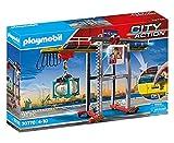 PLAYMOBIL City Action 70770 Portalkran inklusive Containern, Steuermodul und dreh- und verschiebbarer Kabine sowie weiterem Zubehör, ab 4 Jahren