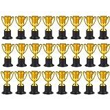 Trofeos para Premios Juvale - Paquete de 25 Copas de Plástico doradas como Trofeo para torneos deportivos, competiciones y fiestas, 5 cm x 10 cm x 5 cm