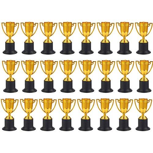 Juvale Premio trofeos–24-Pack de plástico Tazas de Trofeo de Oro para competiciones Deportivas, Concursos, Partes, 1,9x 4x 1,9cm
