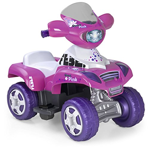 FEBER Famosa 800010444 Pink Quad Elettrico, Un Posto