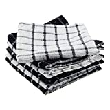 DII Terry Combo Windowpane Dishcloths Absorbant, Multi-Use, Fast Drying and Machine Washab...