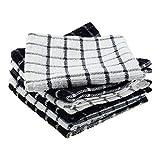 DII Cotton Terry Windowpane Dish Cloths, 12 x 12 Set of 6, Machine
