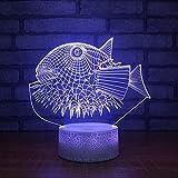 Coloridos peces 3d pequeña luz de la noche Dormitorio infantil creativo...