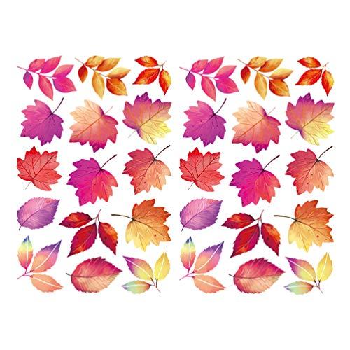 Toyvian Fenster-Aufkleber für Thanksgiving, Herbst, Ahornblätter, Muster, Wandaufkleber, DIY, für Weihnachten, Thanksgiving, Party, Fensterdekoration, 2 Stück