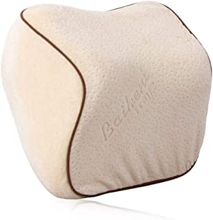 Couleur : Beige, Size : 33.5cm U-Shaped Pillow Car appuie-t/ête si/ège auto oreiller oreiller en forme de U r/églable longue distance reste enfant oreiller c/ôt/é dormir oreiller voiture