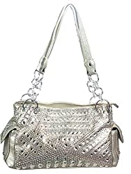 Gem Studded Rhinestone Concealed and Carry Gold Purse
