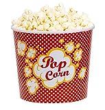 B&F Contenitore per popcorn, grande capacità, 8 litri, in plastica rinforzata, 8 litri, colore: rosso