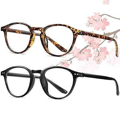 Amazon - Save 30%: Round Blue Light Blocking Glasses for Women Men 2 Pack UV Protection for C…