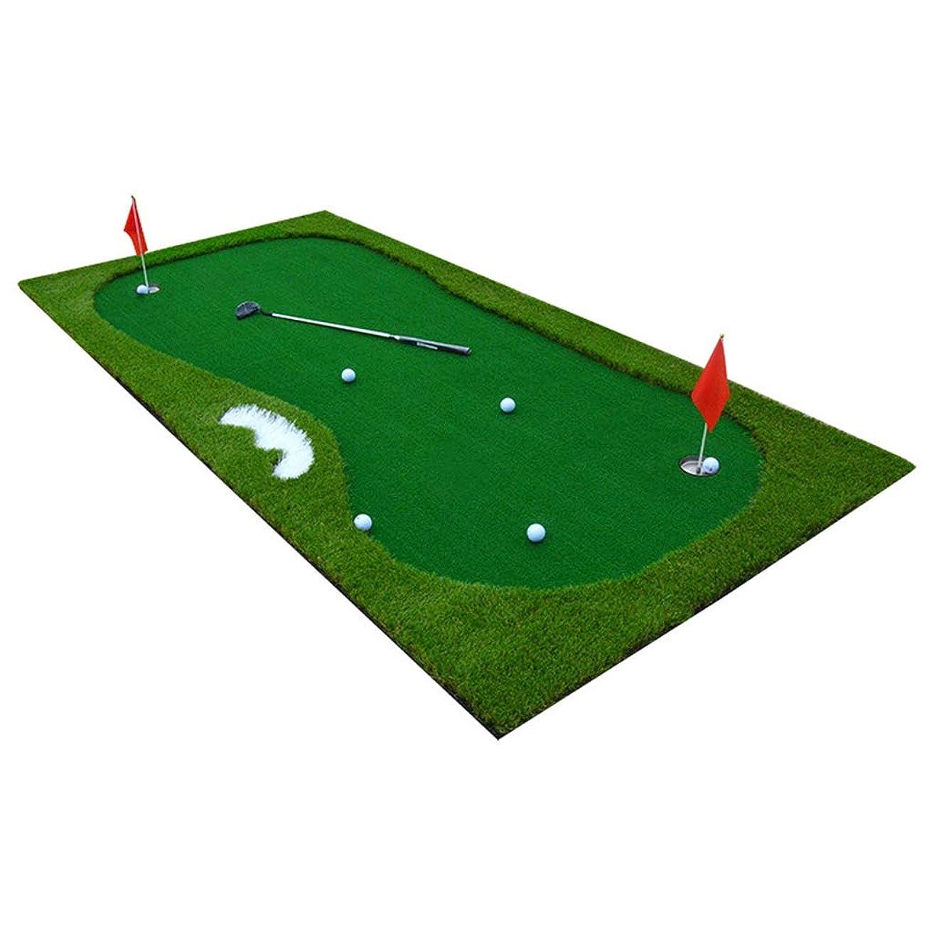 経験ピンポイント請う屋内 ゴルフ 緑 マットを置く パットトレーナー 事務所 ミニゴルフ練習毛布 トレーニング機器 スイングトレーナー 1X3m