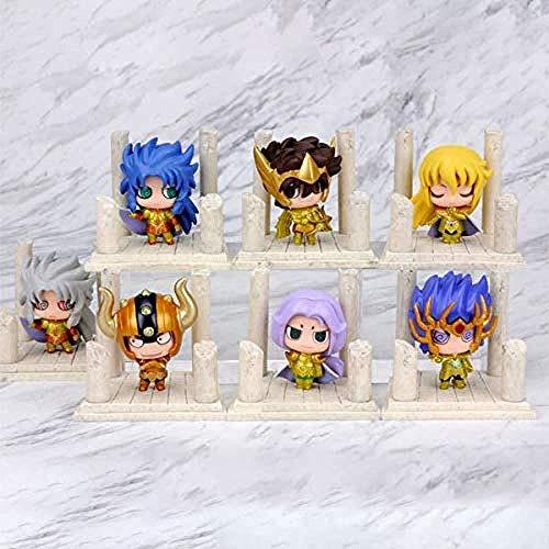 Saint Seiya: Caballeros del Zodiaco Figura de acción PVC Regalo Creativo wkg Los 7 Modelos