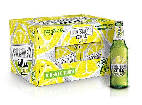 Birra Peroni Chill Lemon - Cassa da 24 x 33 cl (7.92 litri)