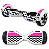 MightySkins Skin Compatible with Self Balancing Mini Scooter Hover Board - Hot Pink Chevron | Protective, Durable, and Unique Vinyl...