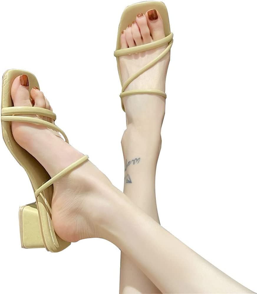 MTFBQ Ladies Summer Sandals Square Women Heelsne S for Superior Limited time cheap sale
