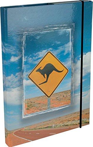 Heftbox / DIN A4 / aus Pappe / mit Kängurumotiv