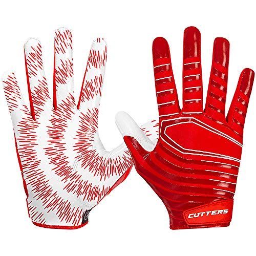 Cutters American Football Receiver Handschuhe Gloves S252 Rev 3.0 Modell 2018 - rot Gr. M