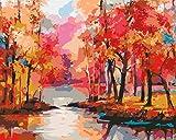 Paint by Numbers - Kit de pintura acrílica con pinceles y pigmentos para manualidades (40,6 x 50,8 cm)