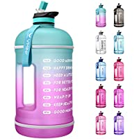 Vmini Motivational 1 Gallon Water Bottle with Time Marker