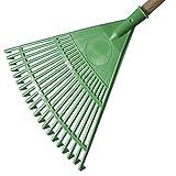 VERDELOOK Rastrello da Giardino in plastica 45 cm, Verde, Fornito Senza Manico
