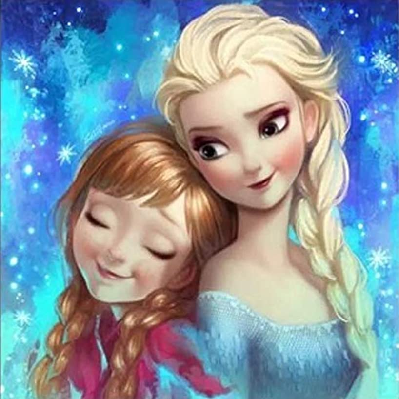 Full Drill Diamond Painting Frozen Princess by Number Kits,5D DIY Diamond Embroidery Crystal Rhinestone Cross Stitch Mosaic Paintings Arts Craft for Home Wall Decor (20X28inch/50X70cm)