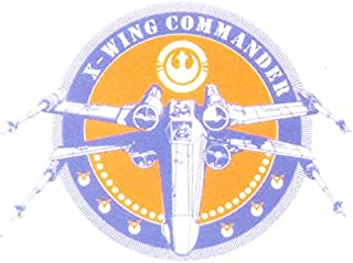 2 Inch Rebel X Wing Commander Badge Alliance XWing Fighter Pilot Helmet Logo Star Wars Classic Episode IV Removable Wall Decal Sticker Art Home Decor Kids Room-2 Inches Wide By 1 1/2 Inches Tall