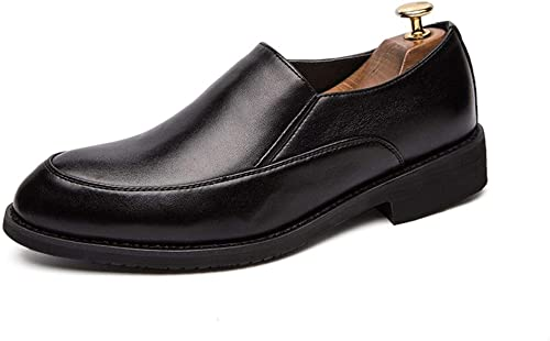 SCSY-Oxford-Schuhe Bequeme Herren Lederschuhe Oxford Schuhe Für Herren Formelle Schuhe Slip On Style Mikrofaser Leder Einfache runde Kappe Ourdoor Freizeit