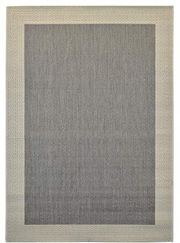 In- und Outdoor-Teppich Grey Field 120x170cm Grau-Weiß aus Kunststoff für Innen und Außen