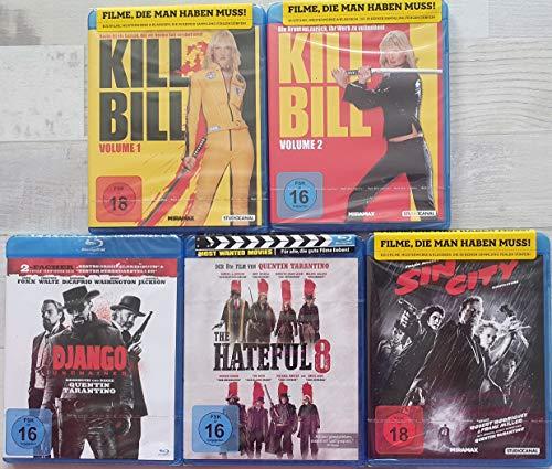 Quentin Tarantino Collection 5 Filme Blu-Rays Set Kill Bill 1 + 2/ Django Unchained/ The Hateful 8/ Sin City