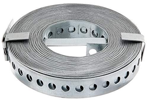 GAH-Alberts 334239 Lochband   mit oder ohne Abrollkasette   sendzimirverzinkt   Breite 20 mm   Länge 10 m