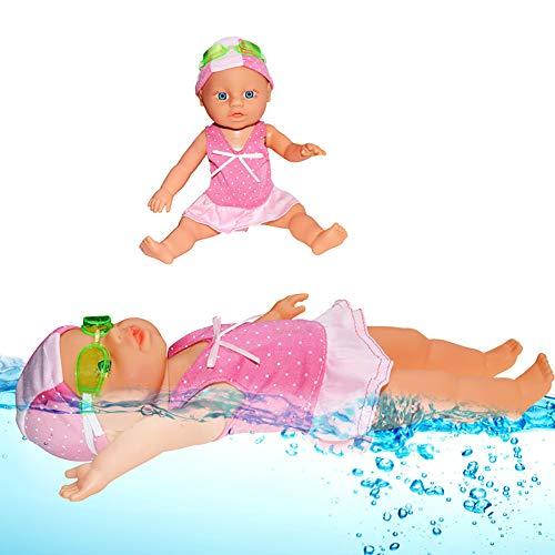 Yidali Baby-Schwimmpuppe, wasserdichte elektrische Puppe Baby-Wasserpuppe Spielzeug Kinder Bad Spielzeug Strandpuppe Bad Spielzeug Baby Schwimmspielzeug für Kinder