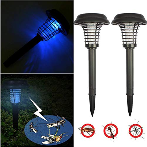 Mosquito Killer Lampe Solarleuchten UV Licht Insektenvernichter Mückenkiller Stummschaltung Keine Strahlung Ungiftig Keine Chemie Unbedenklich für Outdoor,Farm