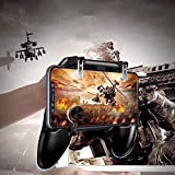 🎮【ERGONOMIC CONTROLLER & PHONE SECURE LOCKED IN PLACE】: People may get hands cramps after playing hours of battle royal games with cellphone. DELAM gamepad is specially designed for mobile shooting games, it extends your phone into a traditional Xbox...