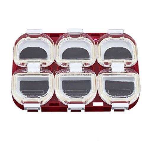 Neuf Plastique étanche magnétique Crochets de pêche Boîte étui de rangement support pour Attaquer Gear Rouge