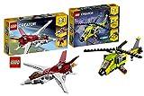 Lego LEGOCreator 31086 Avion du Futur + LEGOCreator Aventures hélicoptères