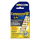 Compound W One Step Wart Remover Strips for Kids, 10 Medicated Strips