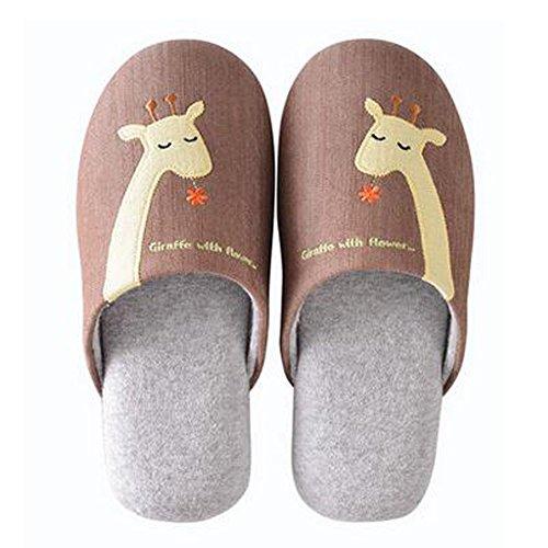 Famille d'hiver et chaleureux Chaussures Indoor Couples Maison Cartoon Slipper, C