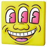 MINI VCD KEITH HARING #2 [15.Three Eyed Smiling Face(黄)](単品) ガチャガチャ カプセルトイ