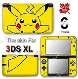 Pokemon Pikachu Classic NEW VINYL SKIN STICKER DECAL COVER PROTECTOR for Original Nintendo 3DS XL